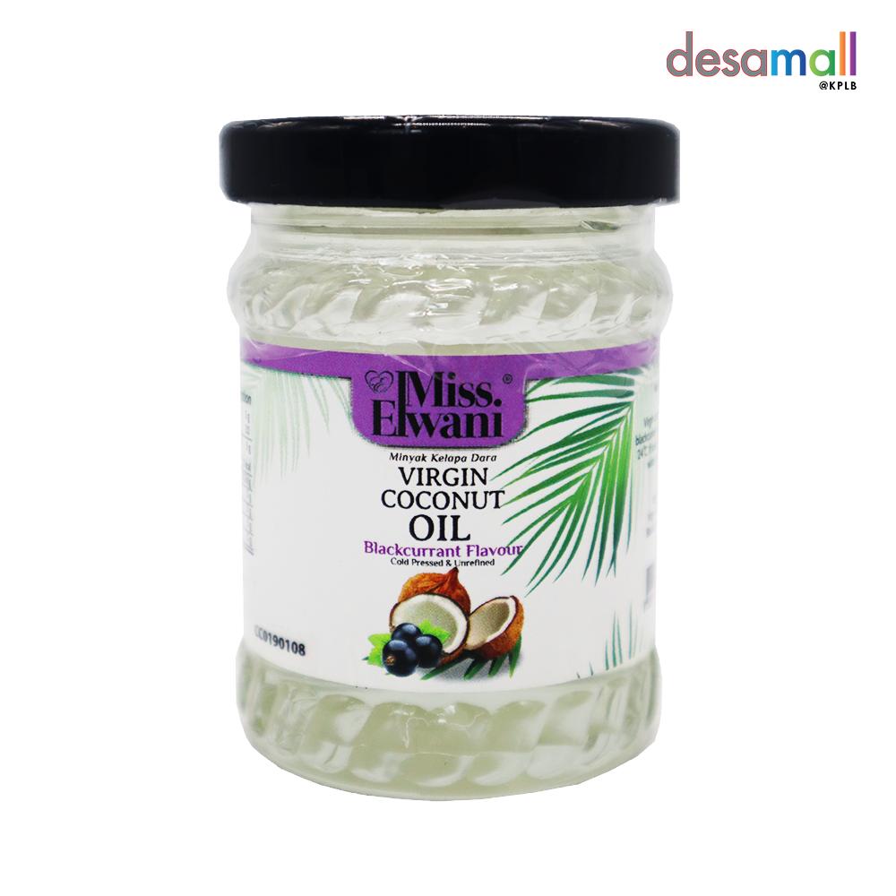 MISS ELWANI Minyak Kelapa Dara Perisa Blackcurrant, VCO Longevity Oil (100ml)