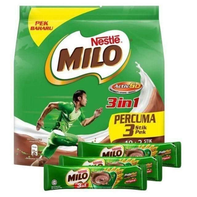 Milo 3 in 1 Activ-Go Chocolate Malt Drink (18 Sticks) READY STOCK