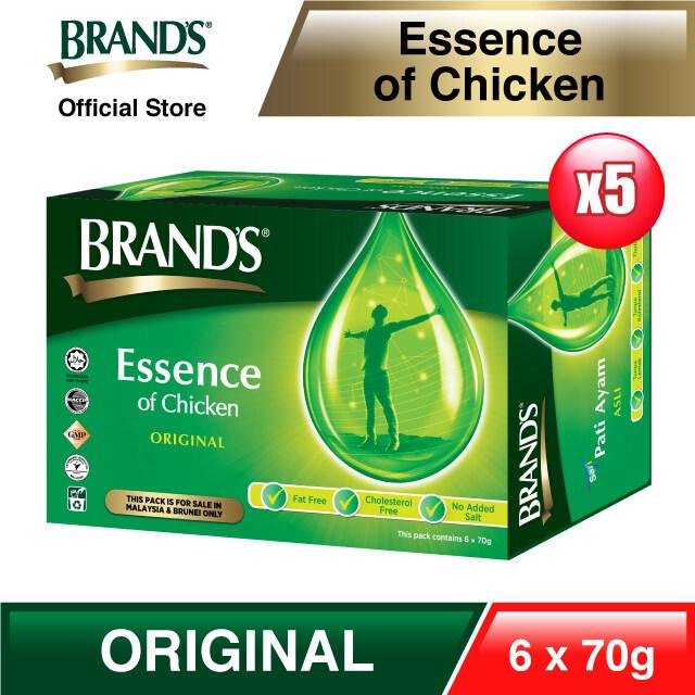 BRAND'S Essence of Chicken 6's x 70gm x 5 packs - Total 30 bottles