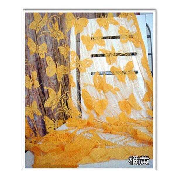 Curtains & Blinds - Butterfly String Curtain Tassel Drape For Wall Vestibule Door Window _3C - PURPLE / GREEN / YELLOW / RED / ROSE / SKY BLUE / BLUE / BLACK / ORANGE / WINE RED