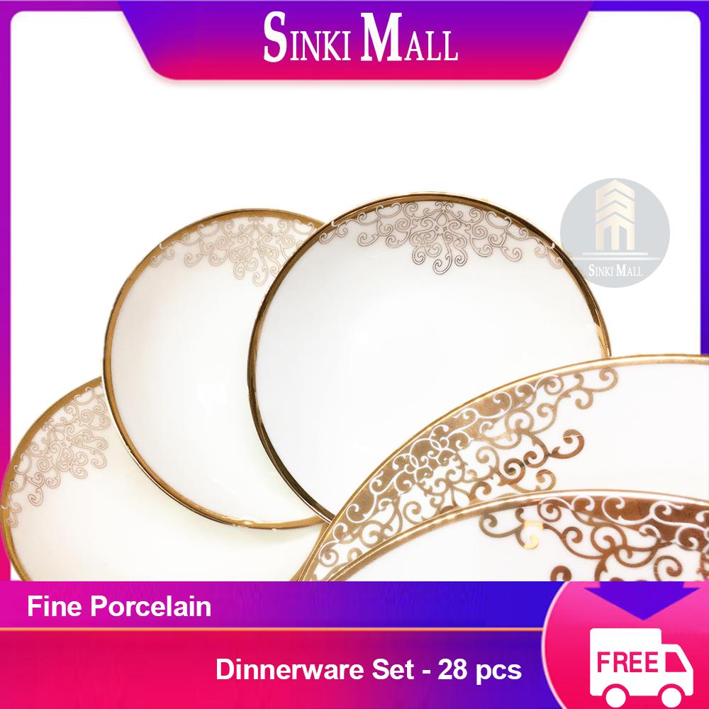 Ocean Of Love Fine Porcelain Dinnerware Plate 28pcs