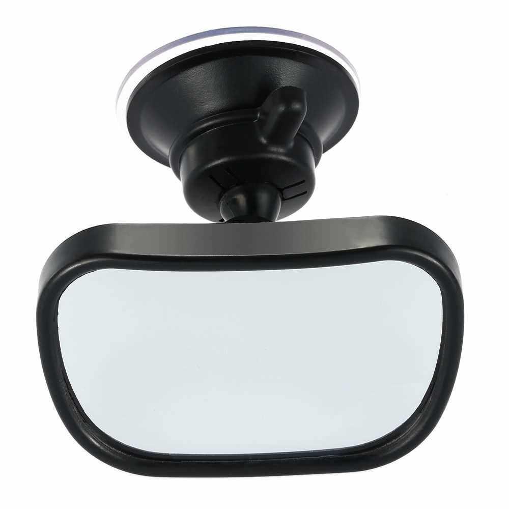 Tirol T22614 Mini Car Baby View Mirror 2 in 1 Car Rear Baby Safety Convex Mirror Adjustable (Standard)