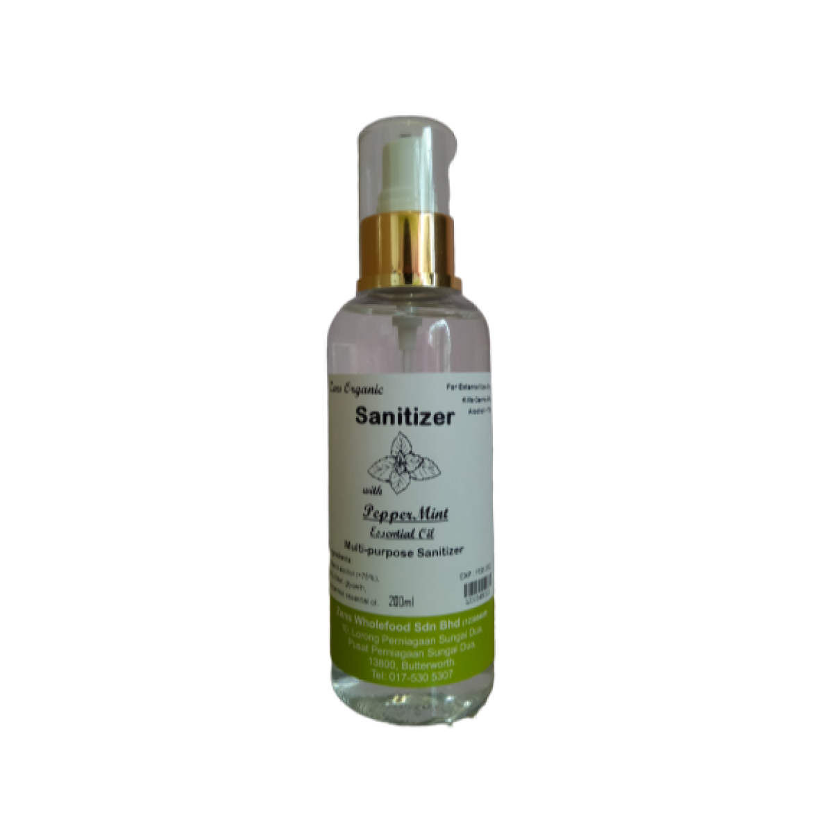 Zens Organic Multi-Purpose Sanitizer Spray with Peppermint Essential Oil 200ml ( Ethanol 75% above, contains glycerin, peppermint essential oil )