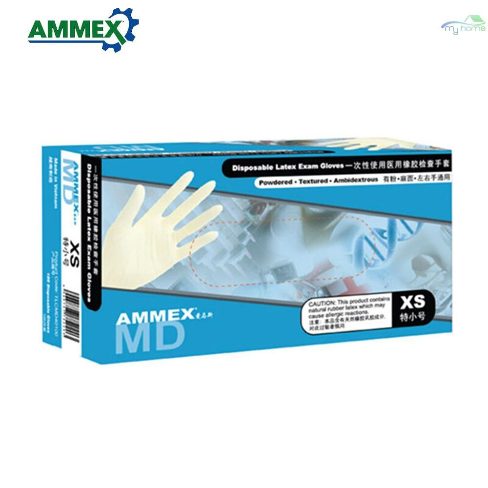 Protective Clothing & Equipment - Disposable Latex Gloves Thicken Rubber with Powder Anti-slip Home Food Medical Dental Gloves - L / M / S