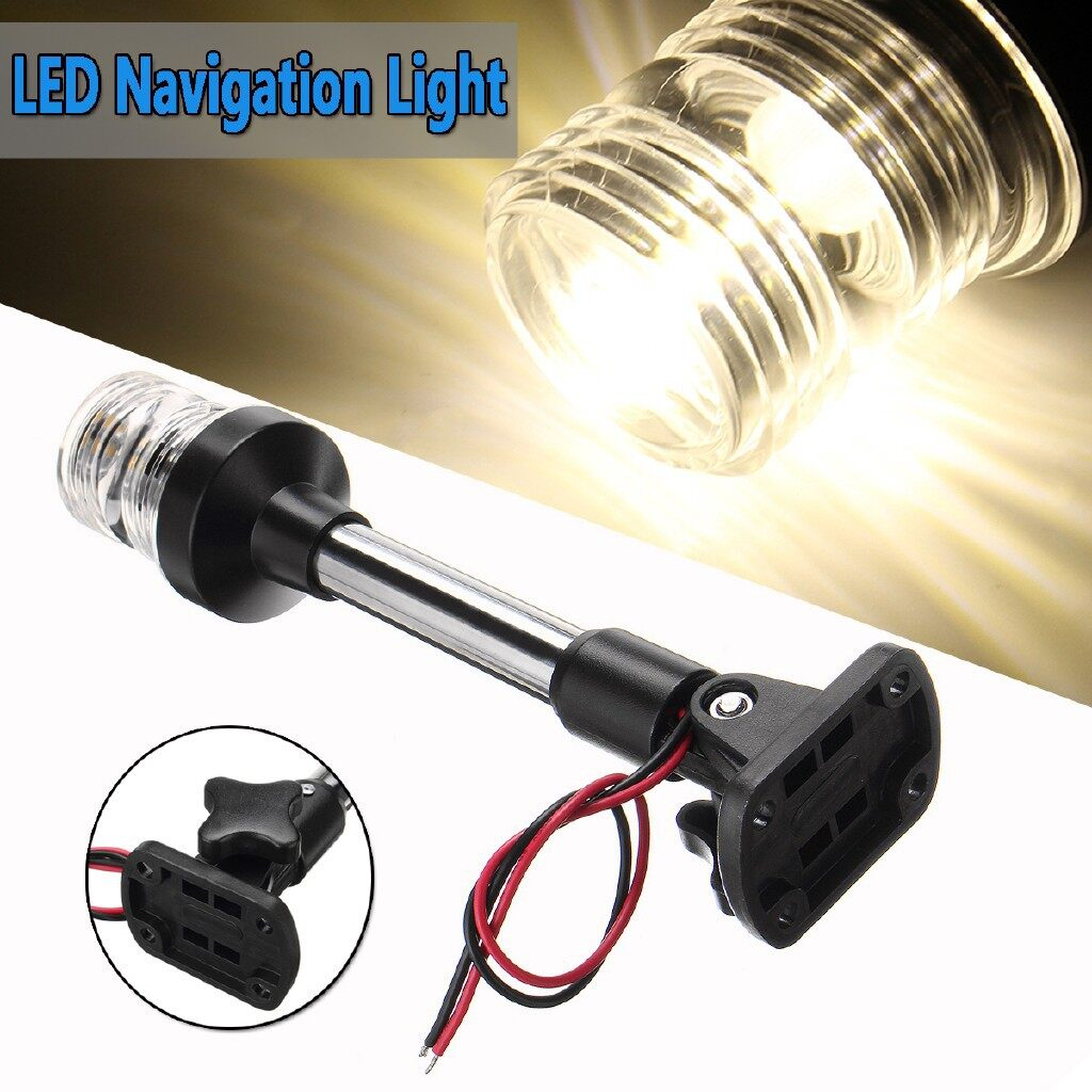 Car Lights - Pactrade Marine Boat Pontoon Fold Down LED Navigation Stern Anchor Pole Light - Replacement Parts
