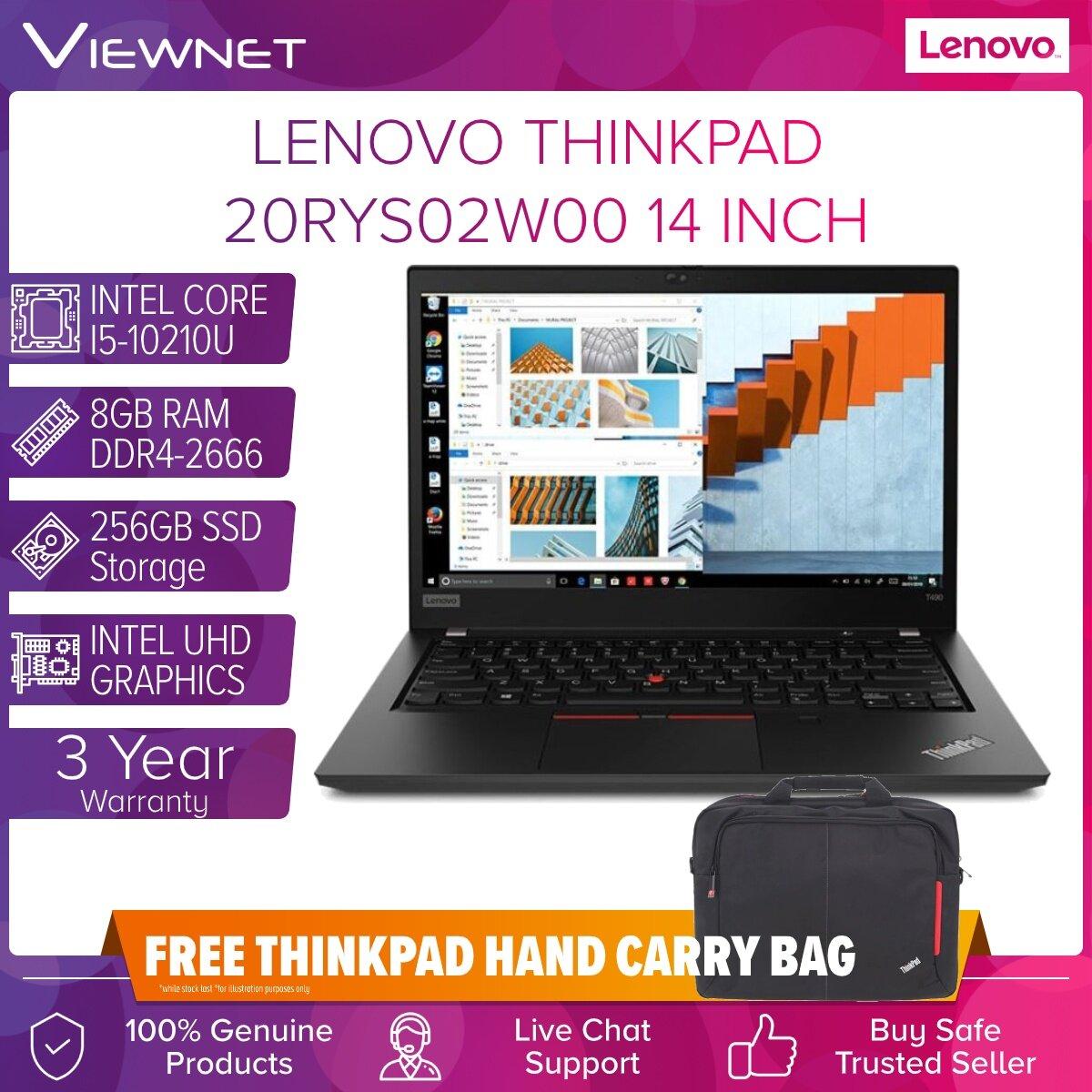 LENOVO THINKPAD T490 20RYS02W00 LAPTOP INTEL CORE I5-10210U 8GB DDR4 ONBOARD 256GB INTEL HD W10P 14