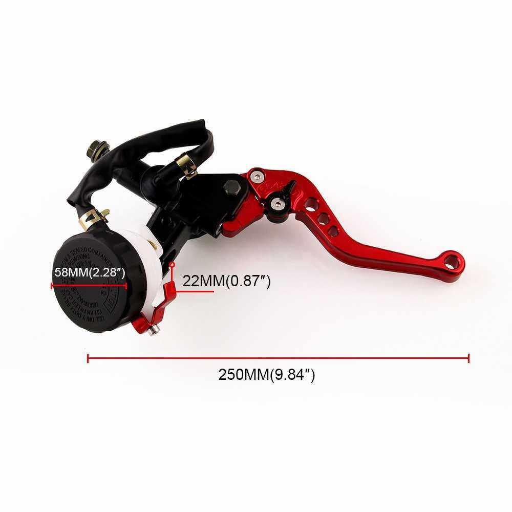 """Best Selling 7/8"""" Motorcycle Brake Clutch Levers Master Cylinder Reservoir Set Universal Adjustable (Red)"""