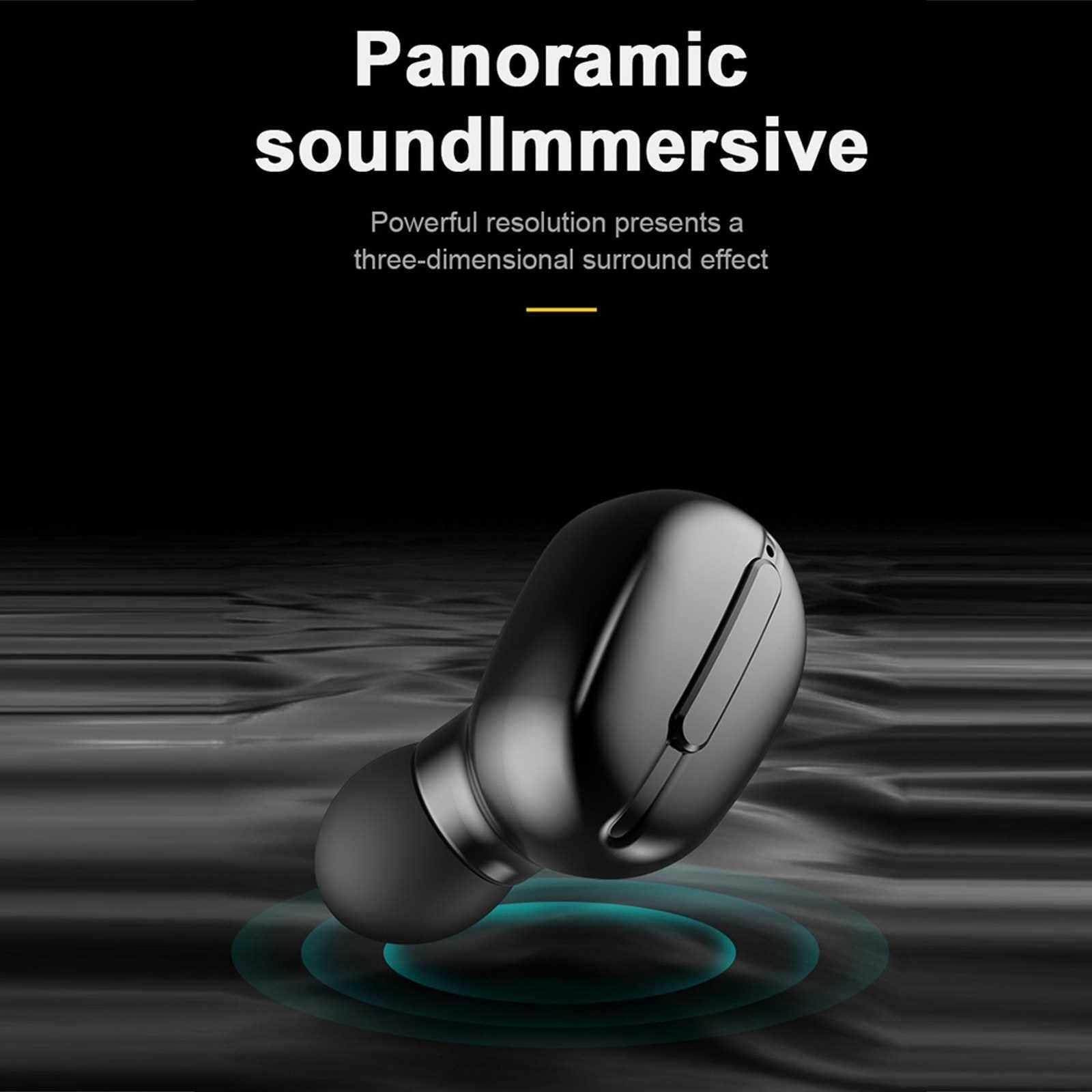 Best Selling L13 Mini TWS Bluetooth 5.0 Earphones Wireless Headphones Sports Waterproof Headsets Earbuds with Microphone Charging Box (Black)