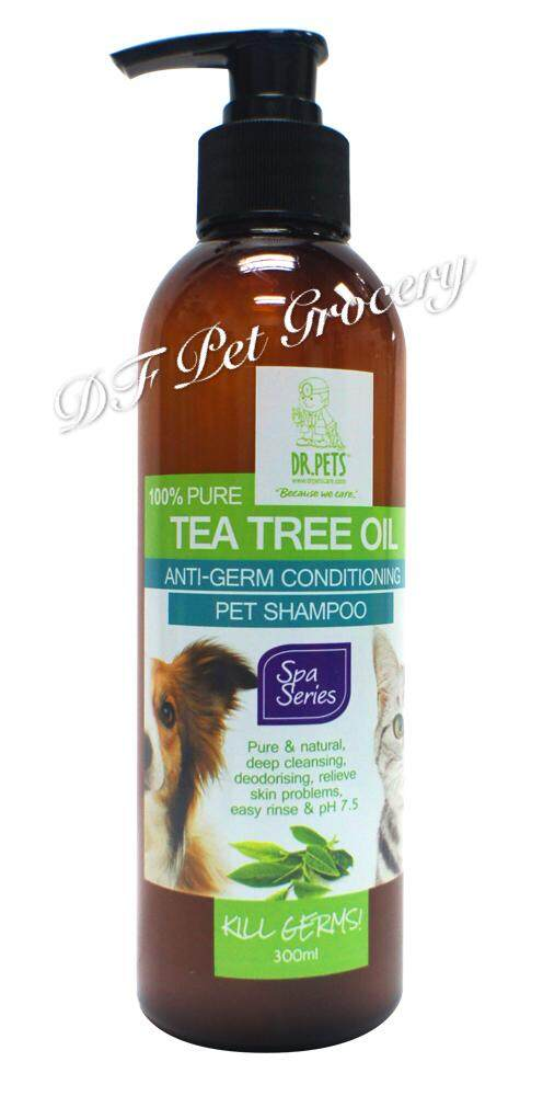 Dr Pets Anti - Germ Conditioning Shampoo 100% Pure Tea Tree Oil 300ml For Dog & Cat