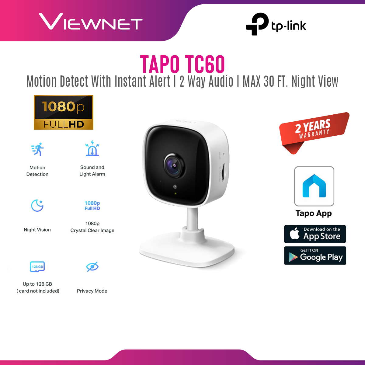 [ONLINE EXCLUSIVE 💥]TP-Link Tapo TC60 / TAPO C110 1080P Full HD Wireless WiFi Home Security Surveillance IP Camera