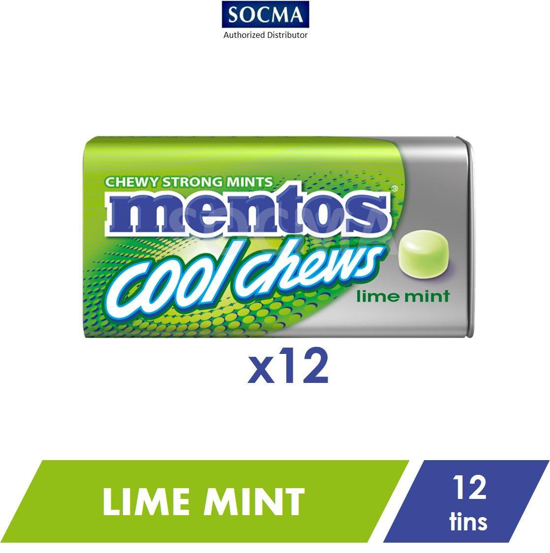 Mentos Cool Chews Tin Lime Mint 38g [12]