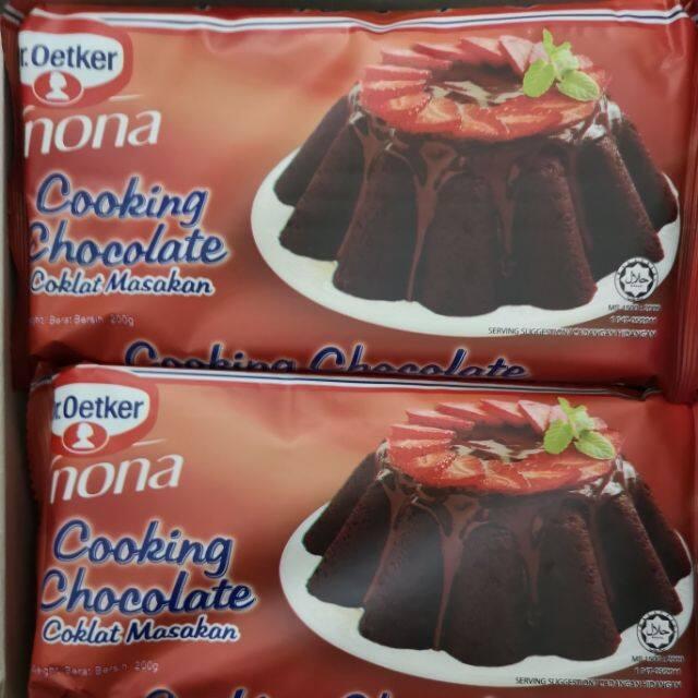 DR OETKER NONA COOKING CHOCOLATE / COKLAT MASAKAN 200 G