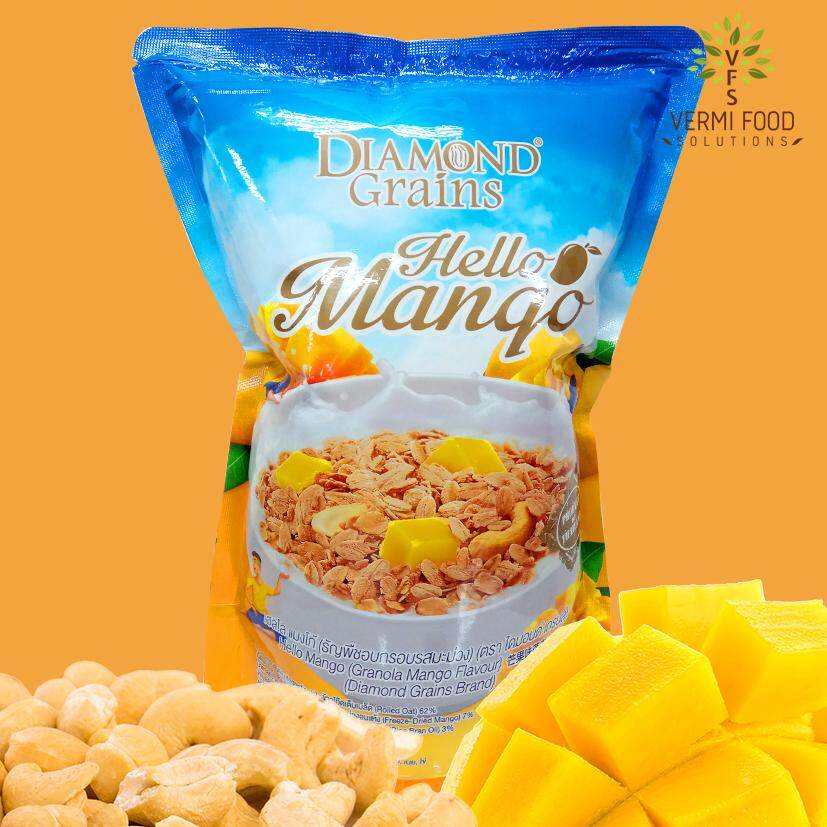 Diamond Grains Granola, Hello Mango 500g