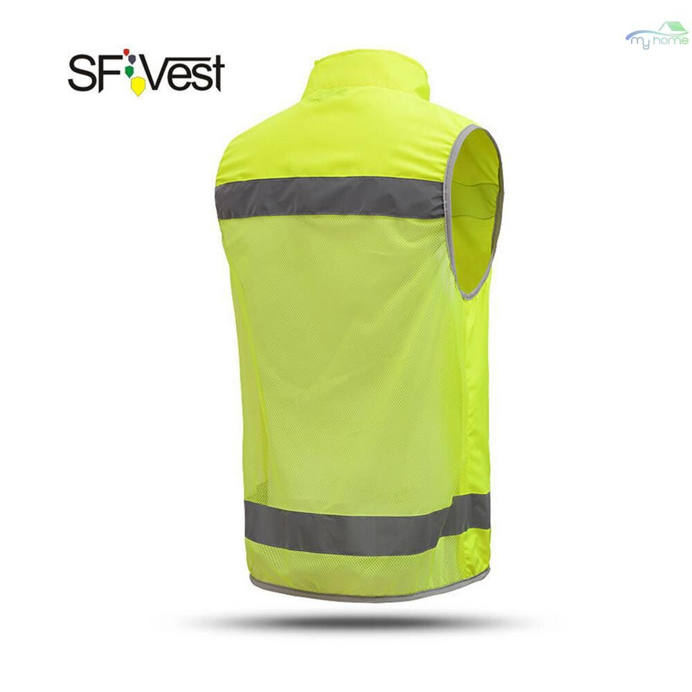 Protective Clothing & Equipment - SFVest High Visibility Reflective Safety Vest Reflective Novelty High Collar Vest Workwear - XL / L / M