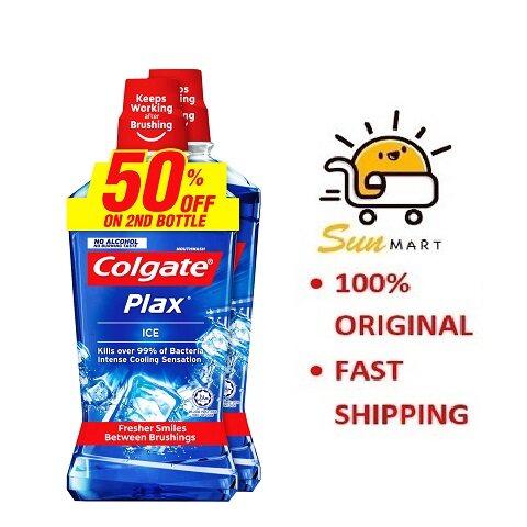 COLGATE MOUTHWASH PLAX ICE TWIN PACK (2X750ML)