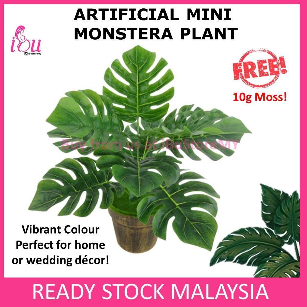 40cm Artificial Mini Monstera Fake Plant Leave Foliage Home Office Wedding Decor Artificial Plant