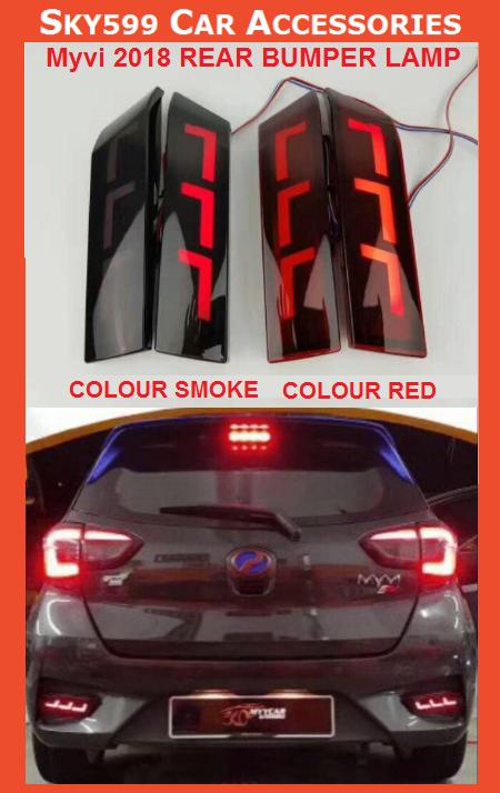 Perodua Myvi 2018-2020 Rear LED Bumper reflector light bar