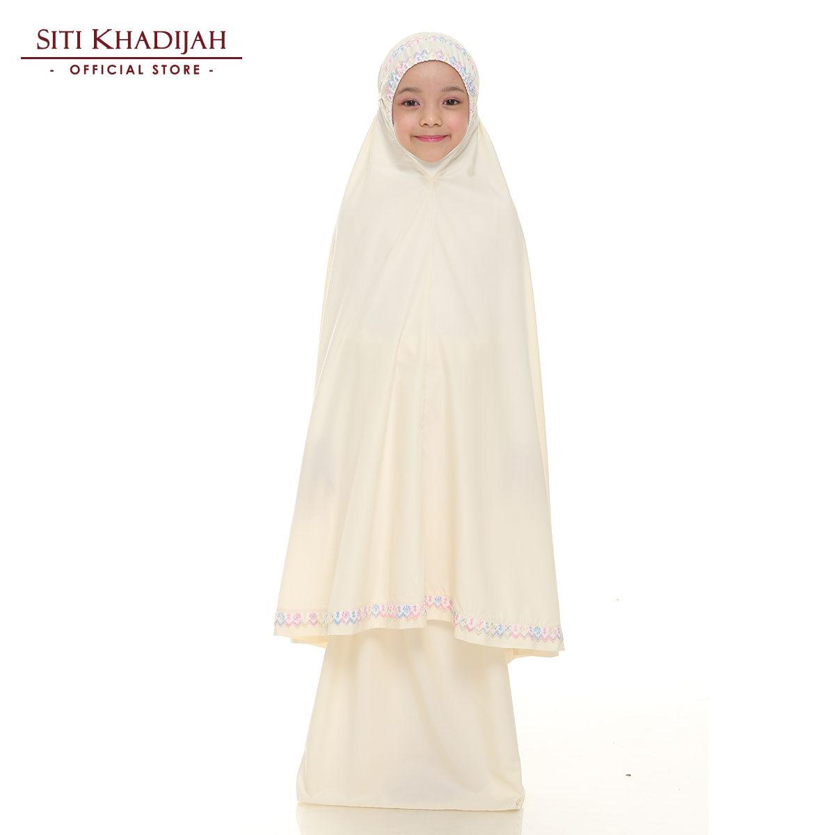 Siti Khadijah Telekung Kids Samira in Soft Yellow