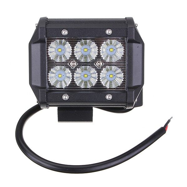 Car Lights - 4INCH 18W LED WORK LIGHT BAR Flood OFFROAD 4WD SUV ATV CAR LAMP 12V - Replacement Parts