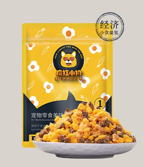 Crazy Dog【疯狂的小狗】Dog Food Topper / Pet Training Snacks (Egg Yolk with Chicken) 狗粮伴侣拌饭蛋黄鸡肉松口味 100g