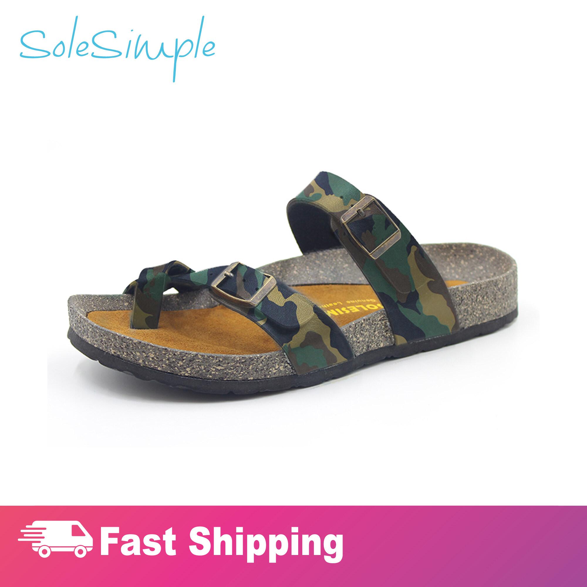 SoleSimple Dublin - Leather Camouflage / Sandal
