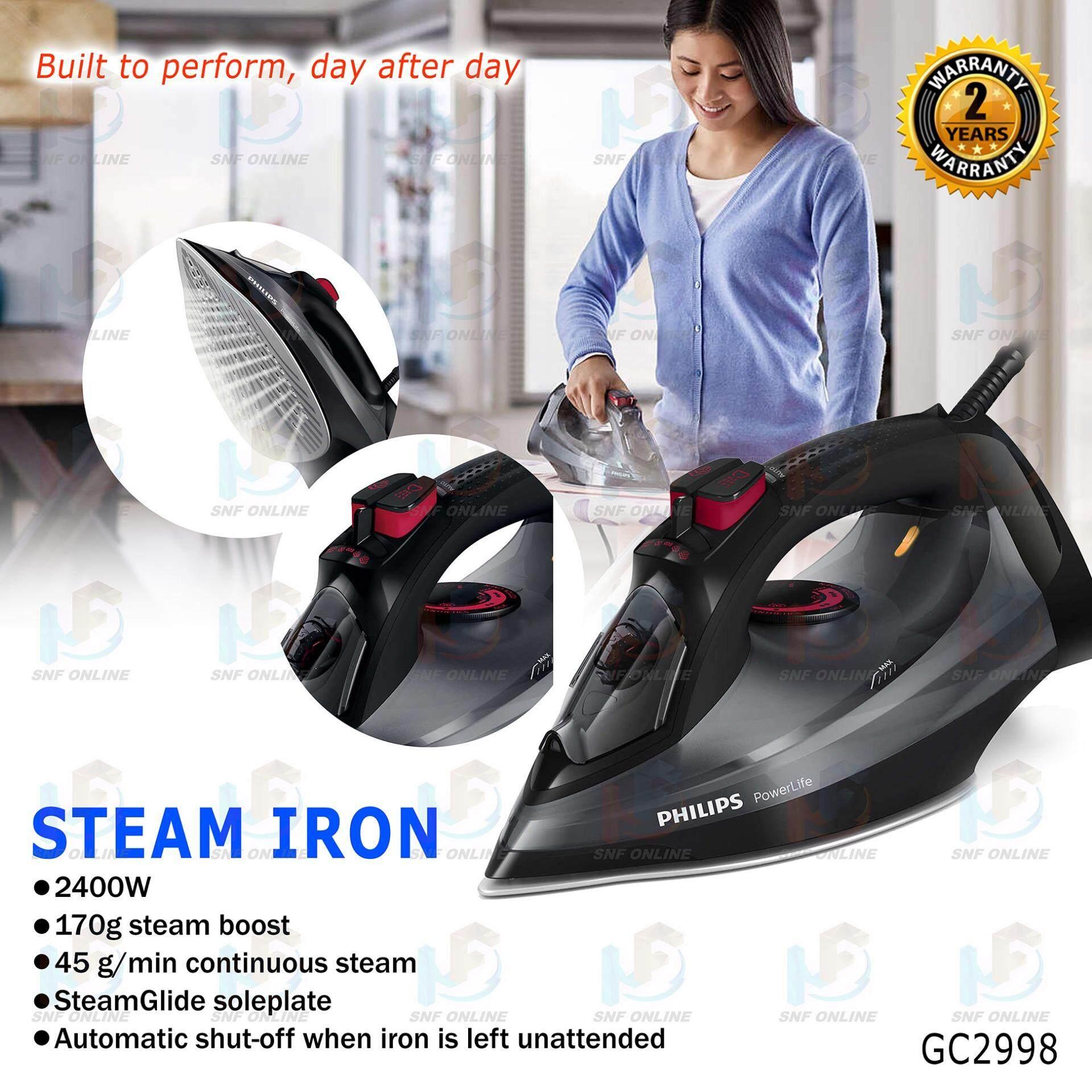 Philips Steam Iron 2400W 170g Steam Boost GC2998