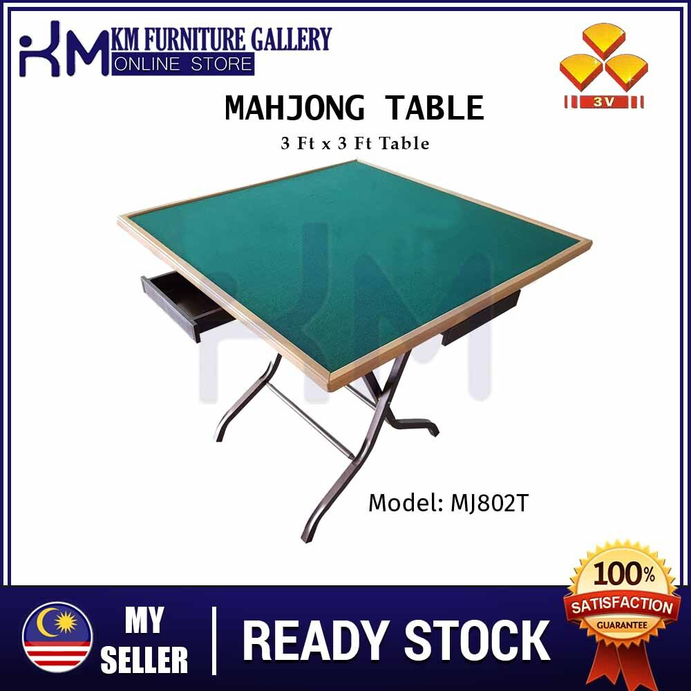 KM Furniture Gallery 3V Square Foldable Mahjung Table - 3' X 3' Feet KMMJ802T