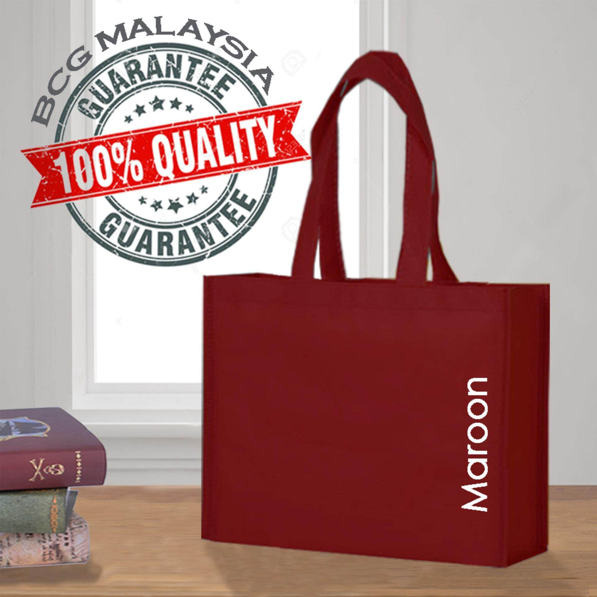 [Ready Stock] BCG Malaysia A3 Maroon Non Woven Bag Recycle Bag 100% Quality Assured