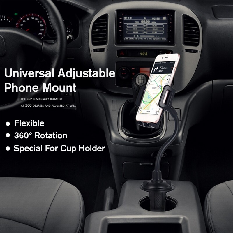 Phone Holder & Stand - 360 Universal Adjustable Car Mount Gooseneck Cup Holder Cradle For Cell Phone - Cases Covers