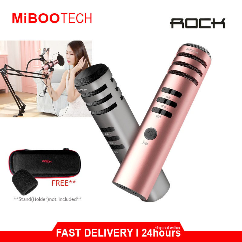 [Miboo] ROCK SPACE Microphone Stand With Phone Holder For Smartphone Microphone For Live / Singing / Recording