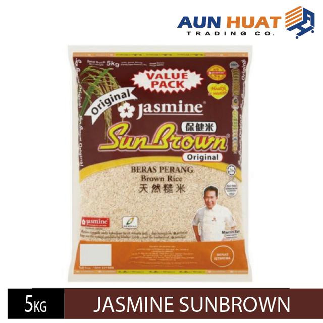 JASMINE SUNBROWN BROEN RICE /BERAS PERANG 保健米天然糙米 5 KG