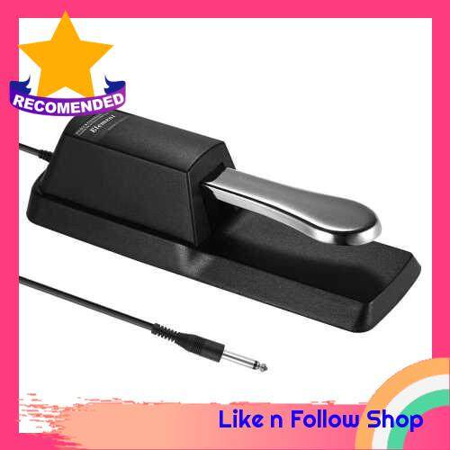 Universal Sustain Pedal Piano Keyboard Damper Pedal 6.35mm Plug for Casio Yamaha Roland Electronic Organ MIDI Keyboards Digital Pianos (Standard)