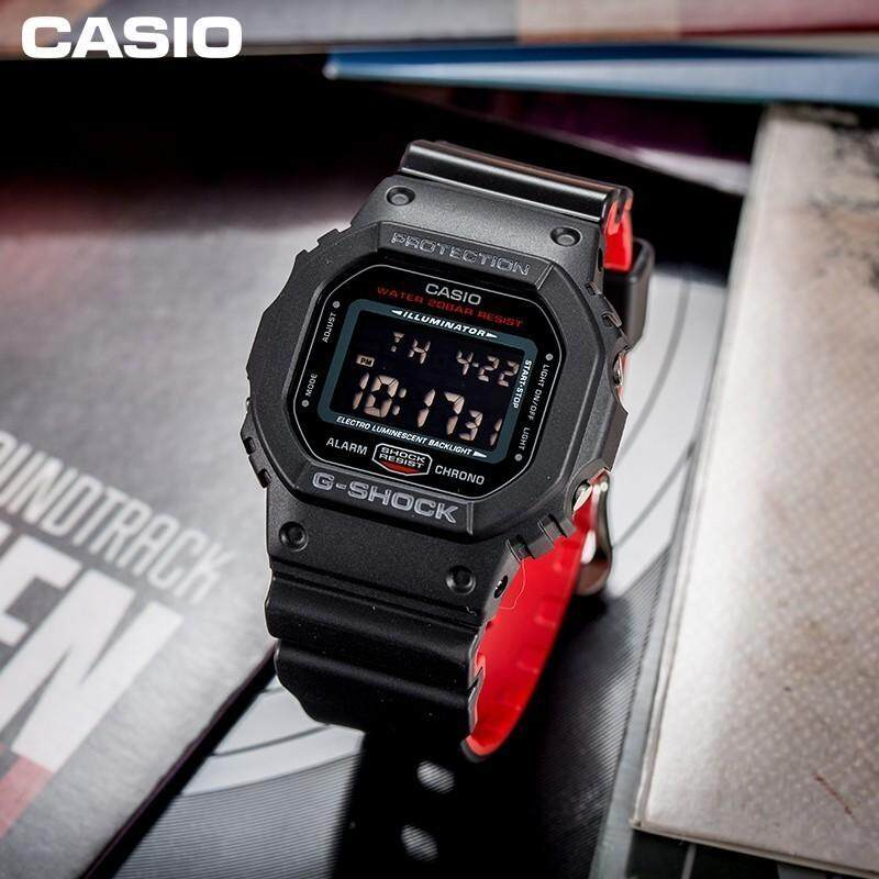 Leo Marketing 100%Original japanes DW-5600HR-1 Black x Red Heritage VAMPIRE Black Dial Resin Sports Watch DW5600HR DW5600