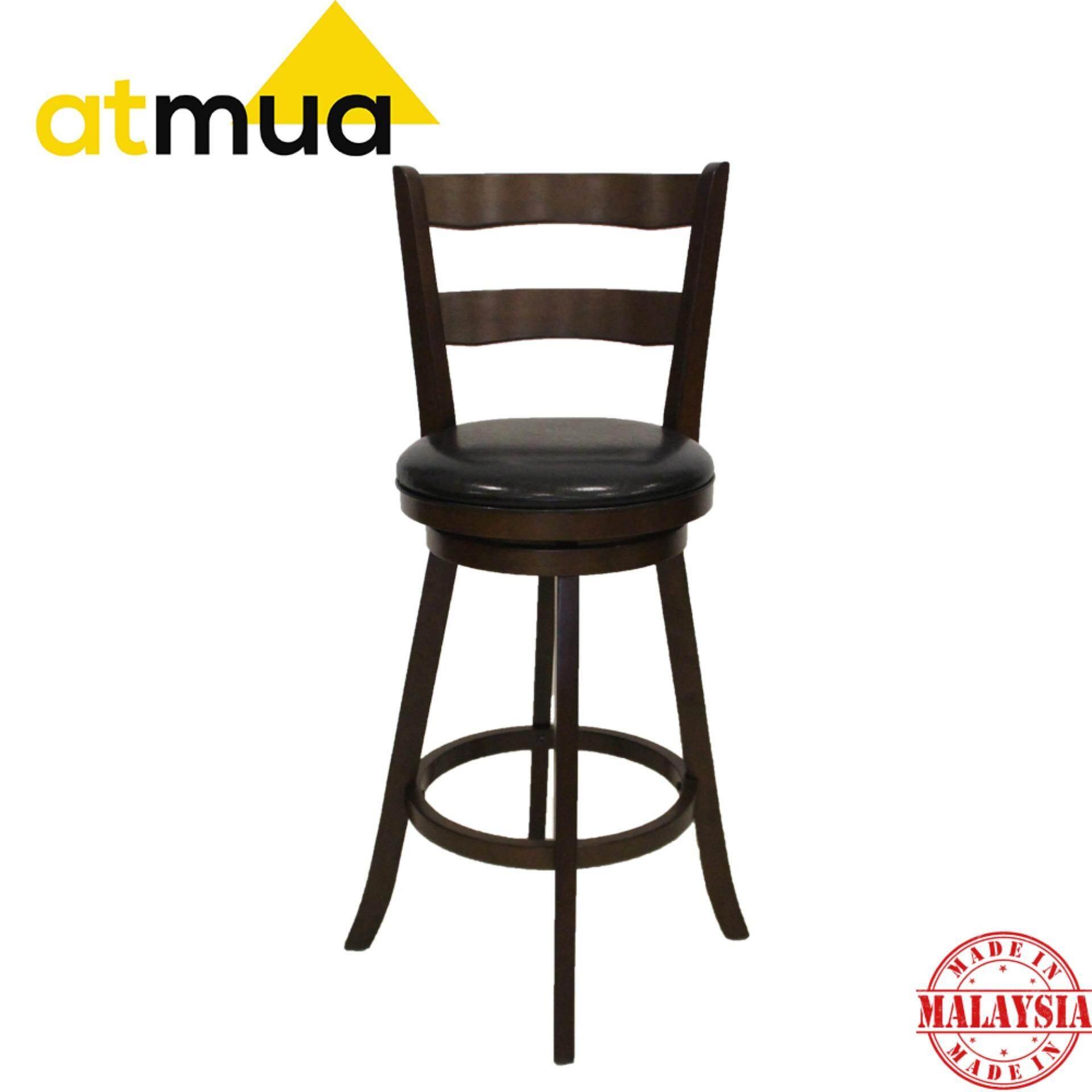 Atmua Estima 360 Swivel Bar Chair - Height 29 inch [Full Solid Wood]
