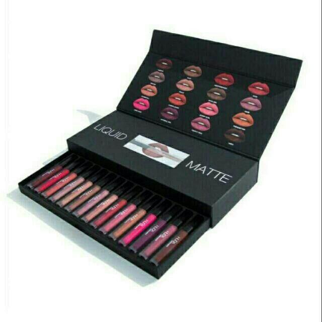 FREE GIFT16 Pcs Liquid Lipmatte Box Set / Liquid Lipstick Set lipstick