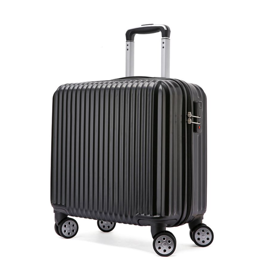 [Ready Stock] 18 inch Travel Luggage Suitcase Silent Wheel 360 Rotation Smooth FREE Luggage protector & Sticker Label