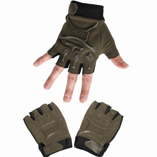 Moto Accessories - Tactical Outdoor Half Finger Gloves Antiskid Sport Cycling Motorcycle - MUD / GREEN / COLOUR / BLACK