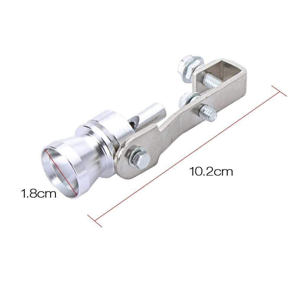 Best Selling Turbo Sound Whistle Exhaust Pipe Tailpipe BOV Blow-off Valve Simulator Aluminum (Silver)