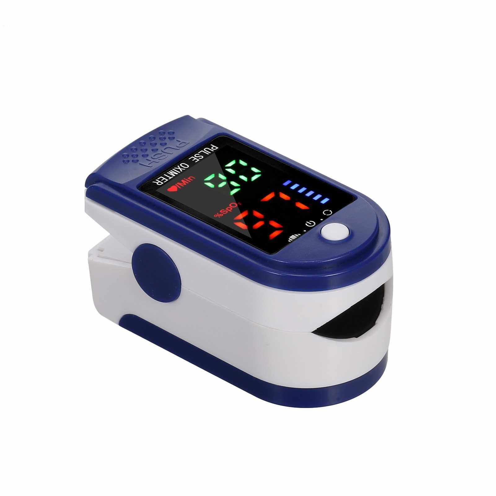 Best Selling Fingertip Pulse Oximeter Blood Oxygen Saturation & Heart Rate Detection 10s Quick Measure & Auto-off Alarm Function Portable SpO2 & Min Monitor for Home Travel (Standard)