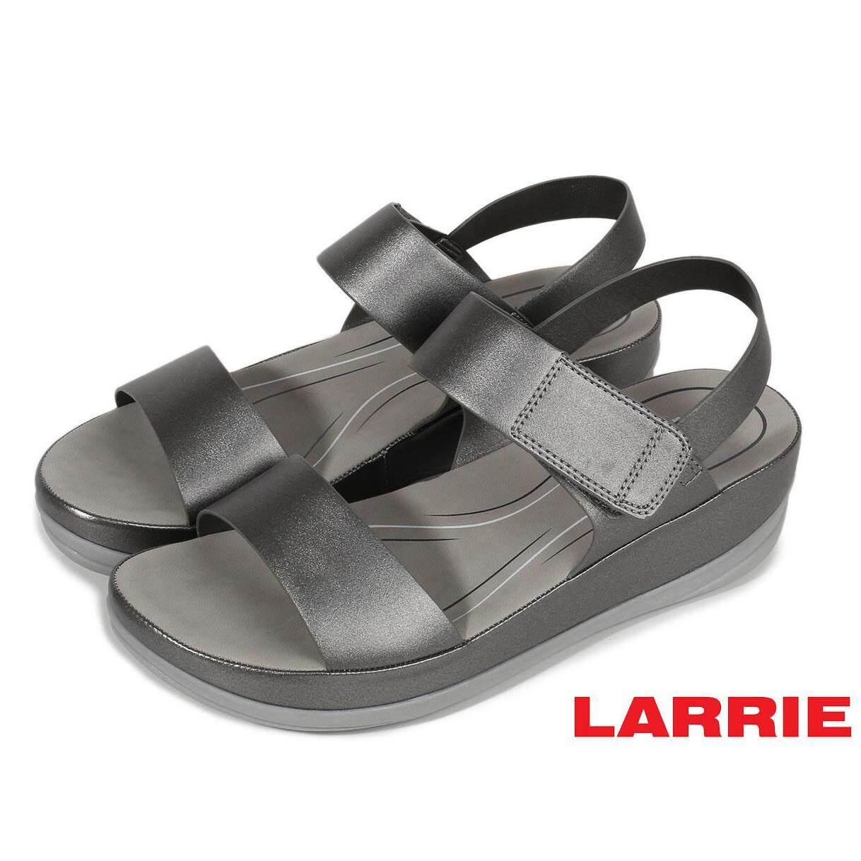 LARRIE Kasut Perempuan Velcro Strap Secure Sandal Wanita - L81912-CV01SV