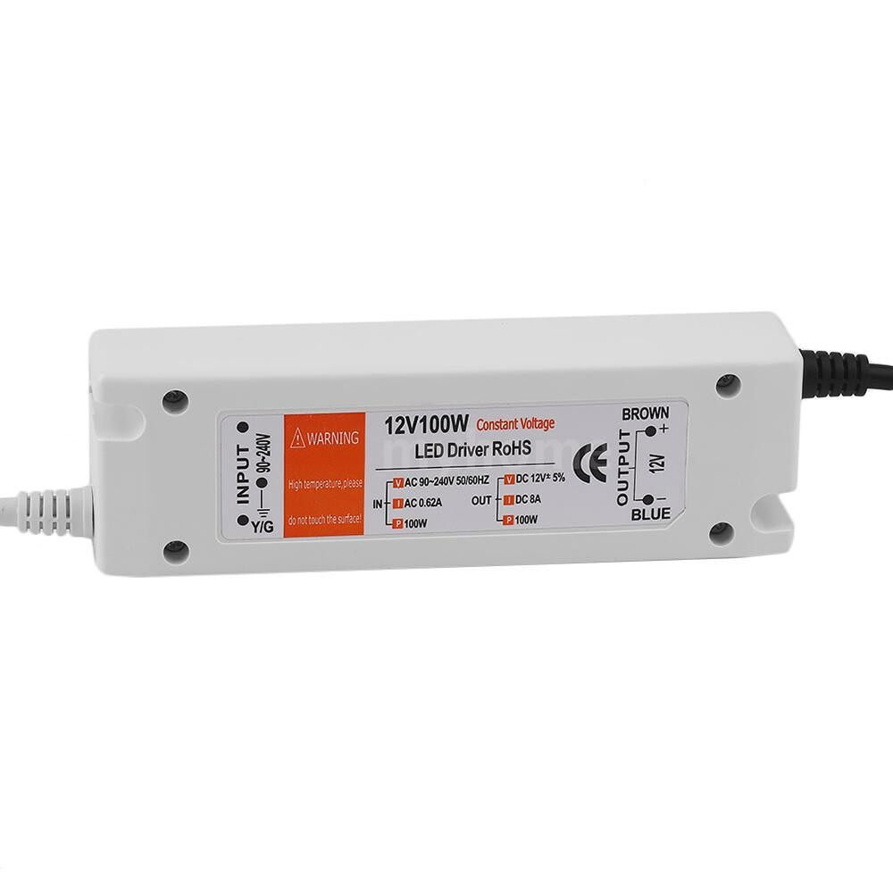 Lighting - DC12V 100W Lighting Transformer LED Driver for LED Strip Ceiling Light Bulb Power Supply - Home & Living