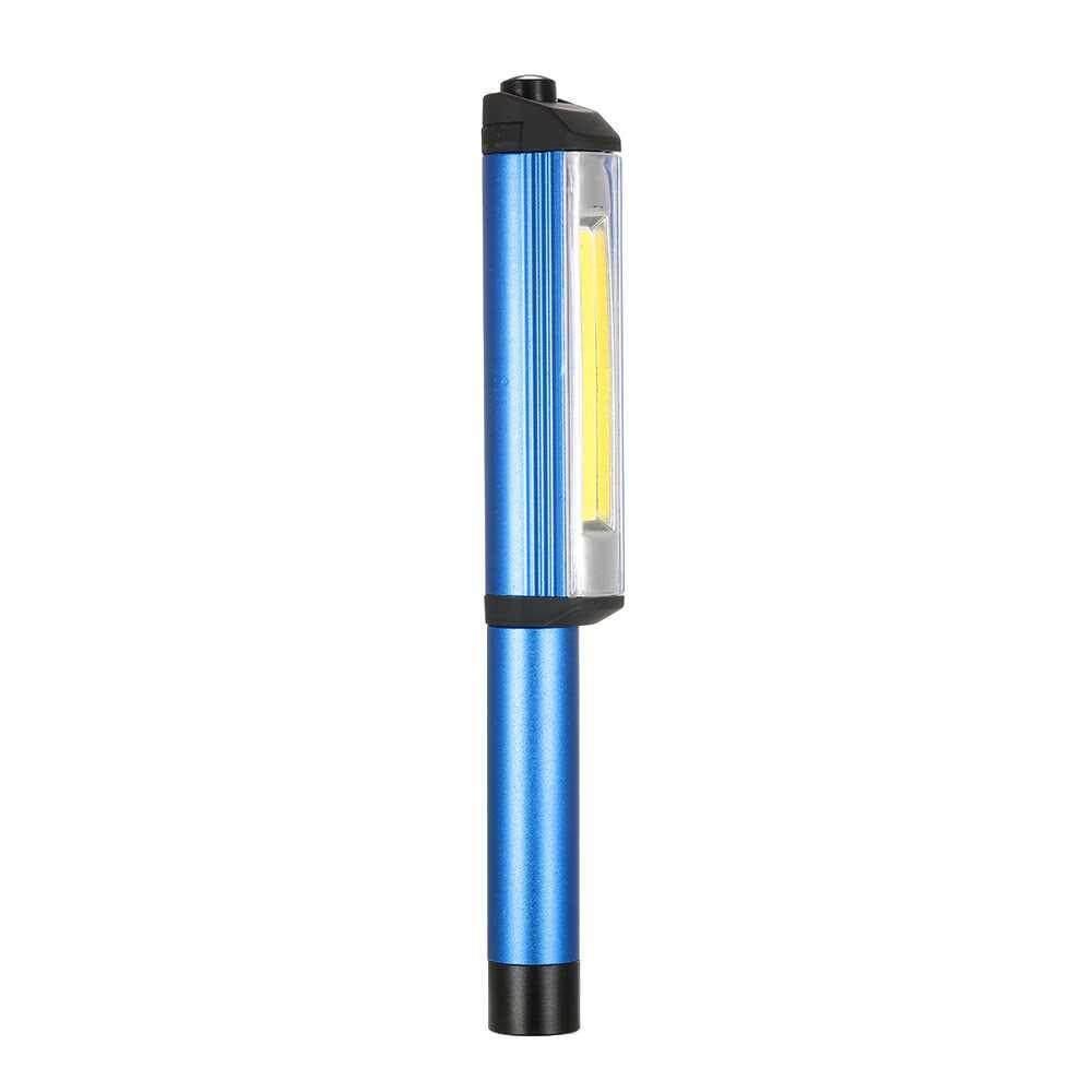Super Bright LED Mini Pocket Pen Light Inspection Light Lamp Work Flashlight Hand Torch with Rotating Magnetic Clip (blau)
