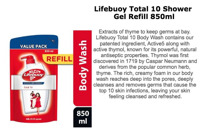LIFEBUOY Body Wash Refill 850ml
