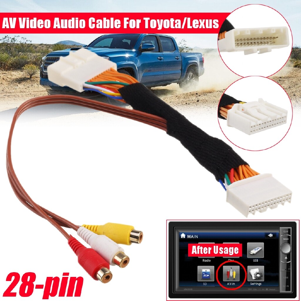Automotive Tools & Equipment - 28 Pin AV Video Audio Cable Touch 2 and Entune OEM Monitor Head For Toyota Lexux - Car Replacement Parts
