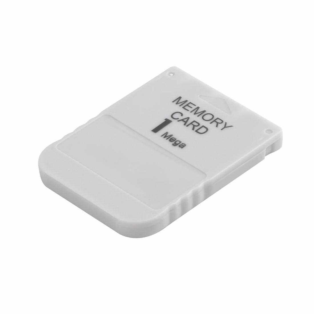 PS1 Memory Card 1 Mega Memory Card For Playstation 1 One PS1 PSX Game Useful (White)