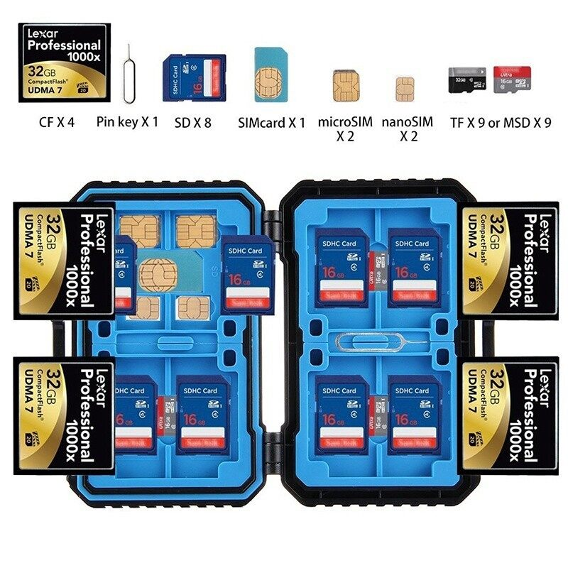 Cases, Covers and Bags - Memory Cards Case Waterproof Micro Card Holder Stocker Storage Box - Camera Accessories