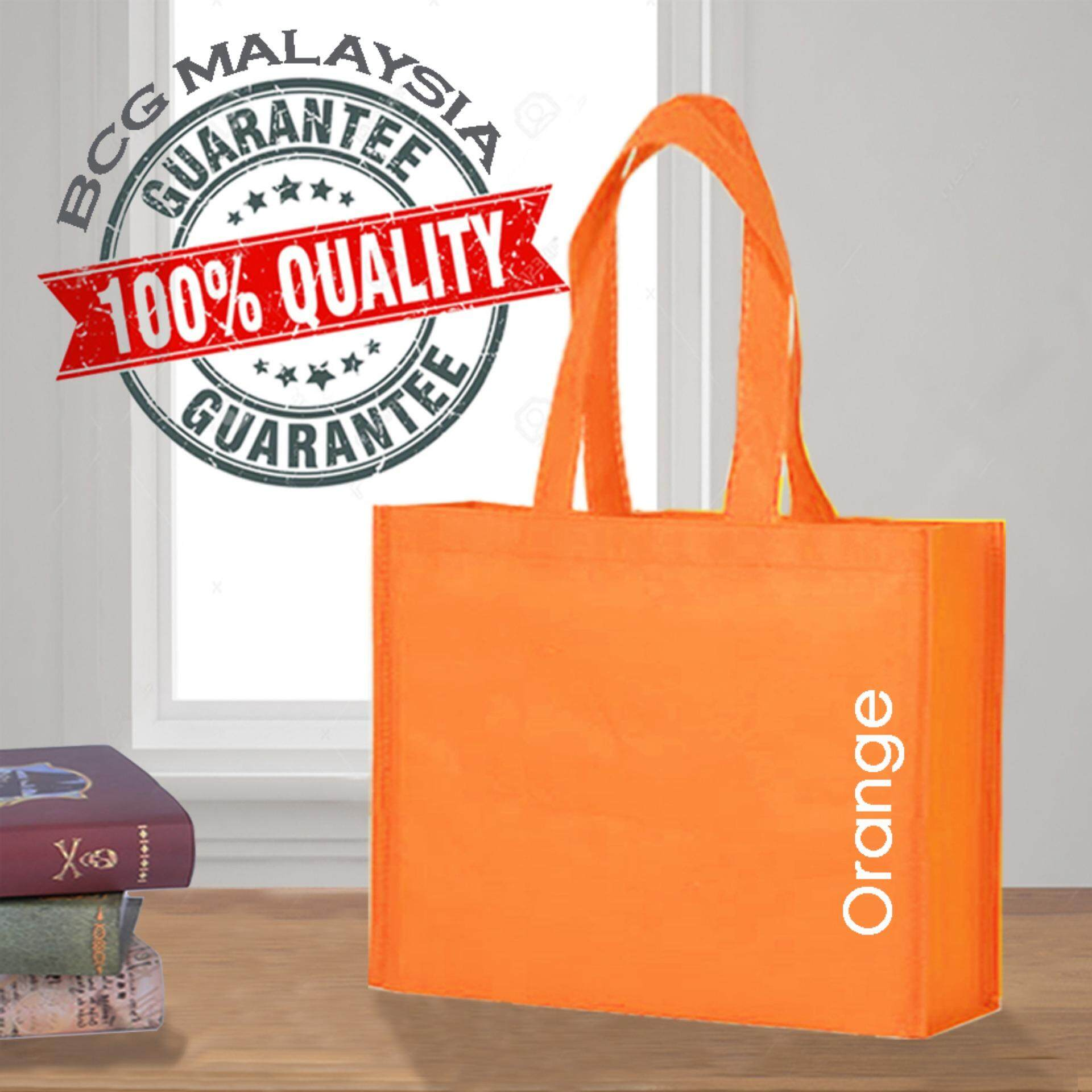 [Ready Stock] BCG Malaysia A3 Orange Non Woven Bag Recycle Bag 100% Quality Assured