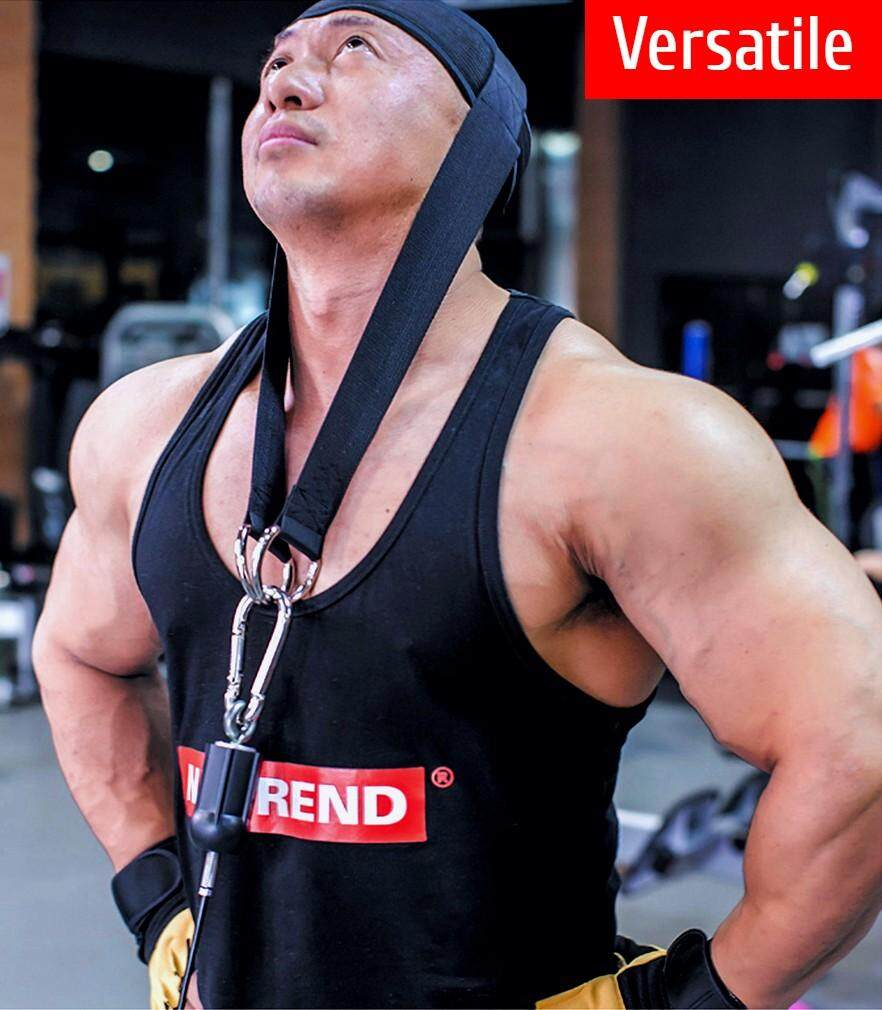 FITUALIZED Head Harness for Neck Resistance Training- Premium Quality & Comfy- Build A Thicker Stronger Alpha Neck- Use it for Neck Curls & Head Exercises- Durable Strap to Ensure Safety- Maximize Your Bodybuilding, Weightlifting, Rehab & Physique
