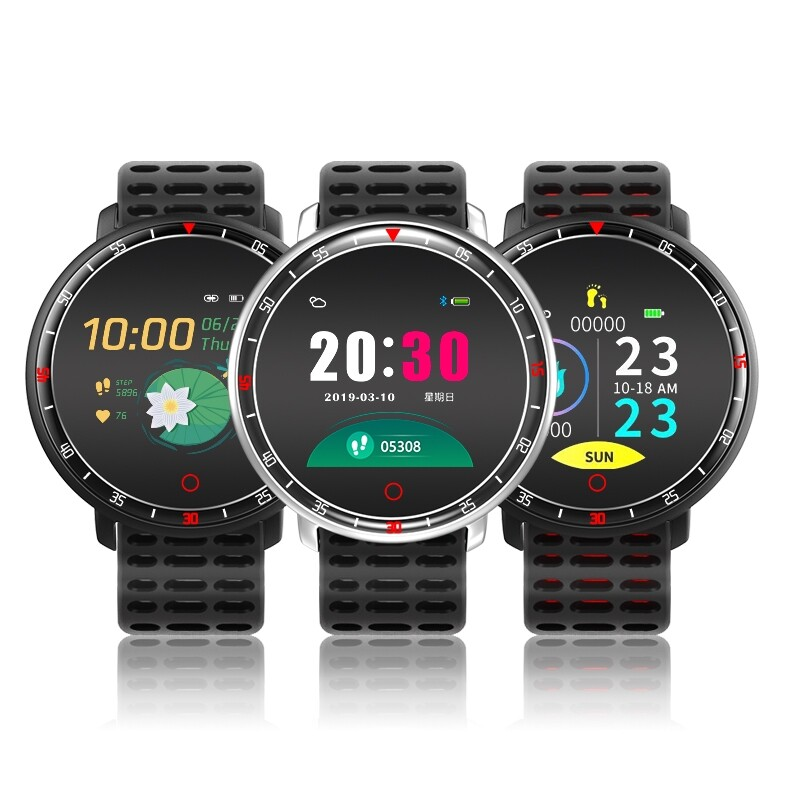 Smart Watch - YS16 Heart Rate Blood Pressure O2 Monitor Weather Push BLUETOOTH Music Smart Watch - BLACK / GREY / RED