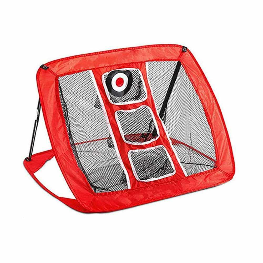 Best Selling Outdoor Golf Chipping Pitching Cages Foldable Golf Practice Net Indoor Golf Training Equipment (Red)